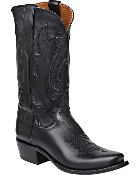 mens black cowboy boots 100 lucchese s handmade 1883 cole cowboy boot snip toe