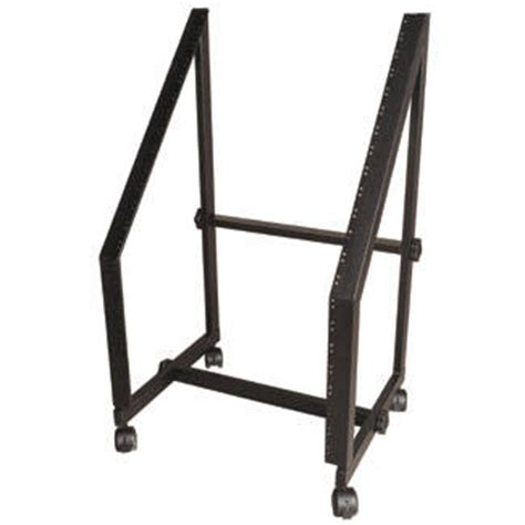 yorkville sound slanted studio rack with wheels