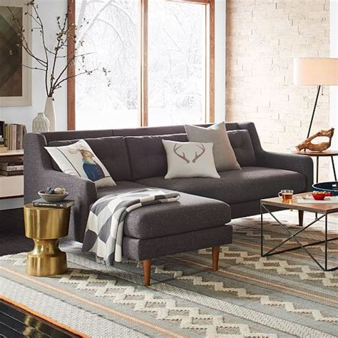 crosby 2 piece chaise sectional crosby 2 piece chaise sectional west elm