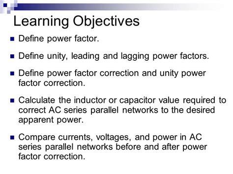 power factor correction capacitor definition power factor and power factor correction ppt