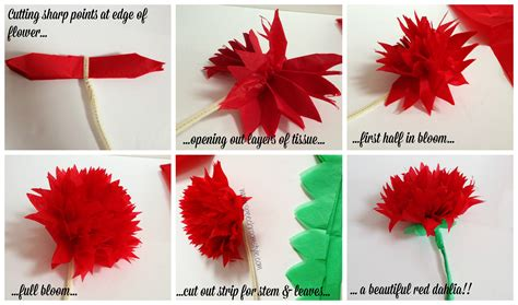 Tissue Paper Flowers Step By Step - classroom decor make your own paper flowers speech room