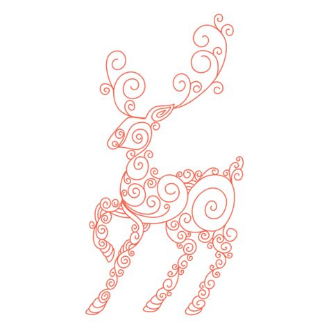 pattern swirl png reindeer silhouette red swirl pattern 84 transparent png