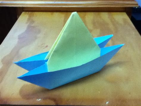 Origami Sailboat That Floats - how to make an origami yacht catamaran or two hull boat