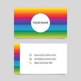 rainbow business card template rainbow business card template 10828 dryicons