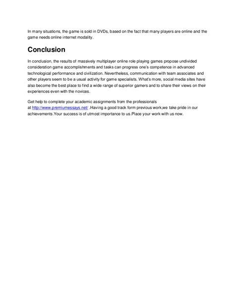 Social Interaction Essay by Sle Essay On The Social Interactions And Marketplace Of Mmorp Gs