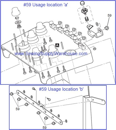 Thread Guide Pipe Bushing For Brother Baby Lock Multi