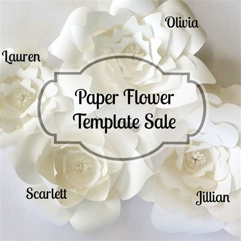 paper flower template sale paperflora