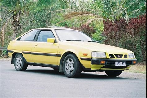 1987 mitsubishi cordia 1987 mitsubishi cordia in a bright and yellow