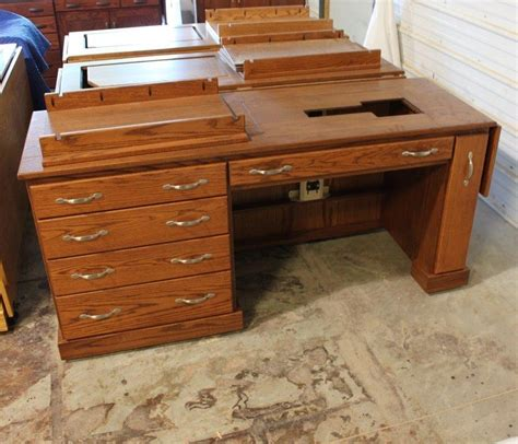 Custom Sewing Machine Cabinets by Custom Oak Sewing Cabinet Country Furniture