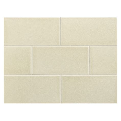 subway tiles colors vermeere ceramic tile linen crackle 3 quot x 6 quot subway tile