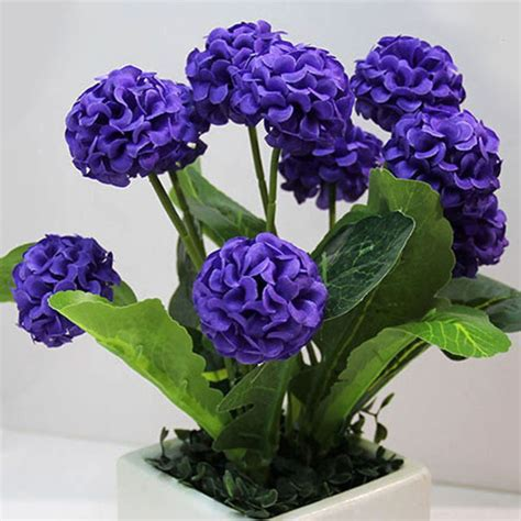 Silk Flower 8 heads artificial flowers hydrangea bouquet home wedding