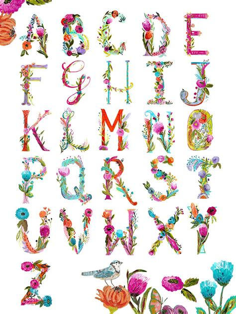 free abc painting painted alphabet chart print bari j designs
