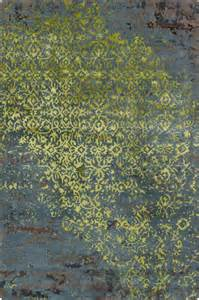 Grey And Lime Green Rug by Erased Damask Lime Green And Grey Rug Transitional