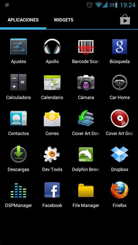 que version de android tengo aplicaciones y smartphones imprescindibles - Menu Android