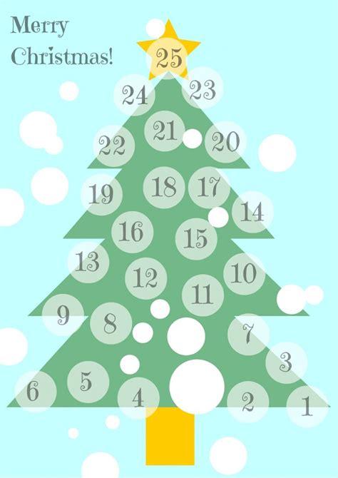A3 Printable Advent Calendar | minimalist advent calendar mom with five
