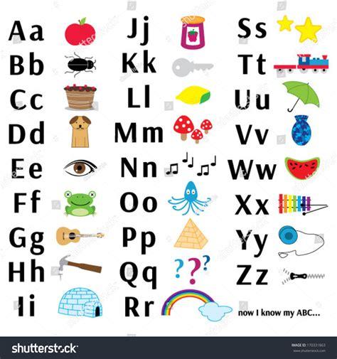 Vase Frog Abc Letter Chart Stock Vector 170331863 Shutterstock