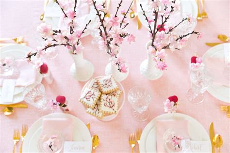 Designing Your Own Home japanese cherry blossom party tablescape pizzazzerie