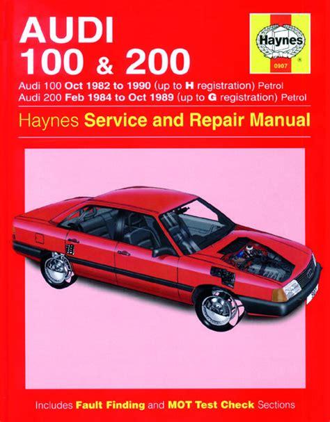 service repair manual free download 1988 audi 90 parking system haynes manual audi 100 200 petrol oct 1982 1990 up to h