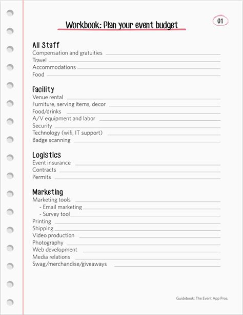 event planning template free images