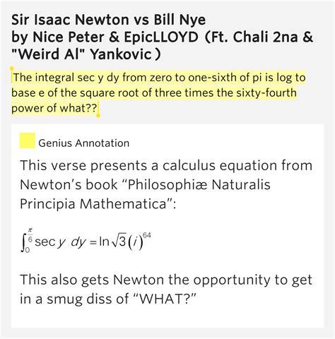 epiclloyd sir isaac newton vs bill nye lyrics genius lyrics et 248 jeblik i livet af rytteren bill nye vs sir isaac