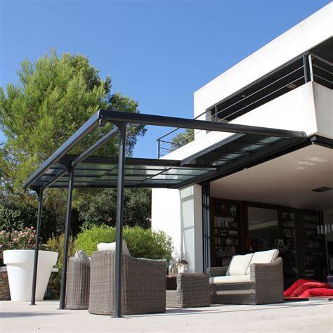 terrassenüberdachung alu 4 x 5 tonnelle adoss 233 e aluminium toit polycarbonate 4x3 5m