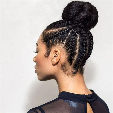Braided Buns Hairstyles by Black Hairstyles Braided Into A Bun Hairstyles