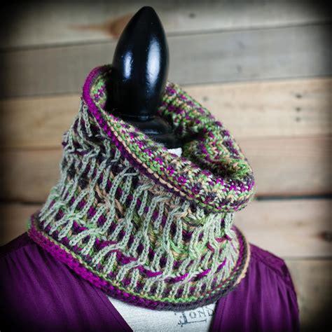 loom knit cowl neck scarf loom knit brioche cowl pattern neckwarmer fancy brioche