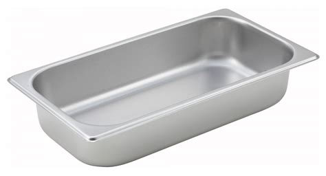 1 2 size steam pan winco spt2 third size steam pan 2 1 2 quot deep
