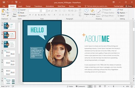 Your Resume Animated Powerpoint Template About Me Powerpoint Template