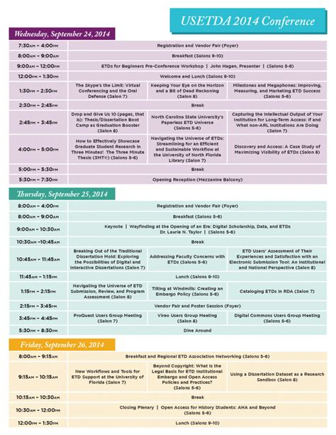 programme template for conference usetda 187 usetda 2014