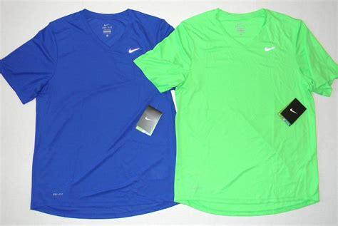 nike challenger v neck running t shirt dri fit navy blue