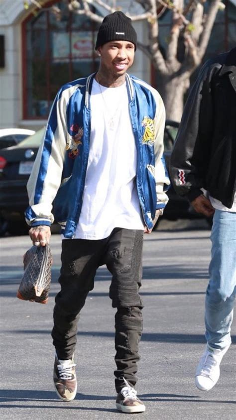 Califa Zipper Dress spotted tyga in vintage souvenir jacket pause