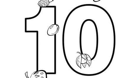 coloring pages of the number 10 number series ten grandparents com