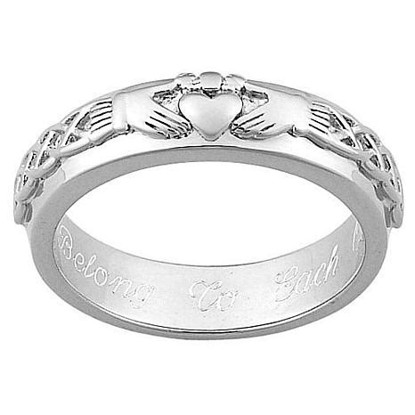 sterling silver claddagh personalized wedding band