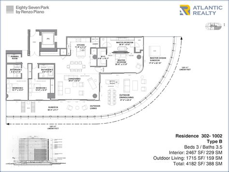 piano floor plan eighty seven park by renzo piano new miami florida beach