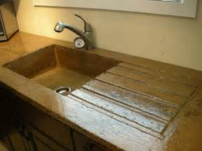 Corian Integrated Sinks High Gloss Rustic Concrete Countertop With Built In Sink