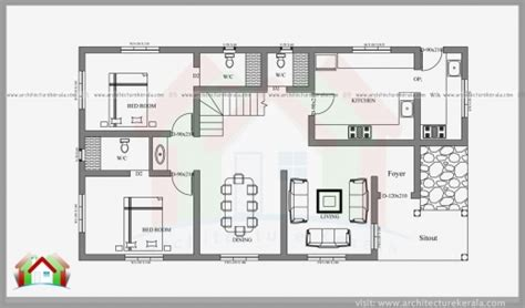 2 Bedroom Kerala House Plans Free by Two Bedroom House Plan With Elevation House Floor Plans