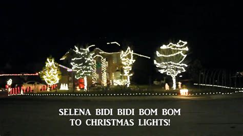 boerne family syncs christmas lights to selena s bidi bidi