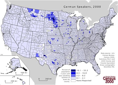 how many towns are in the us german language in the united states wikipedia