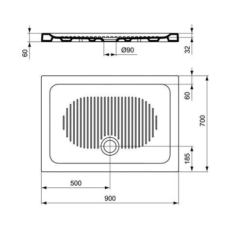ideal standard t267001 connect piatto doccia rettangolare