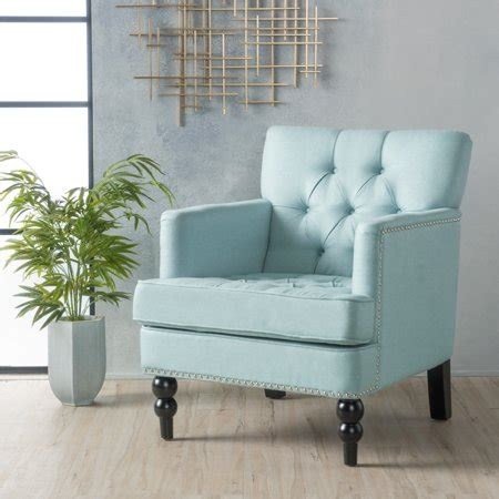 noble house marilyn light blue fabric club accent chair walmartcom