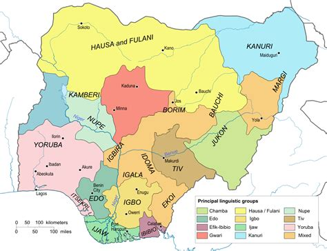 Nigérie File Nigeria Linguistical Map 1979 Svg Wikimedia Commons