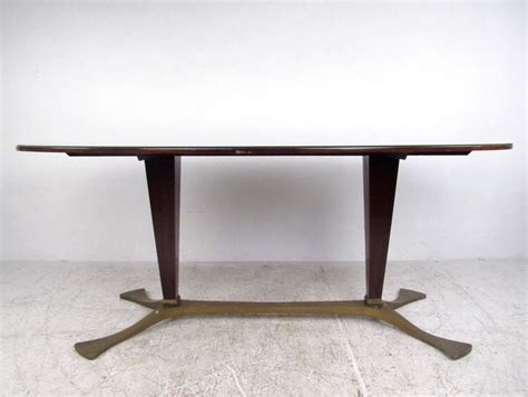 italian glass top dining table 1950s for sale at