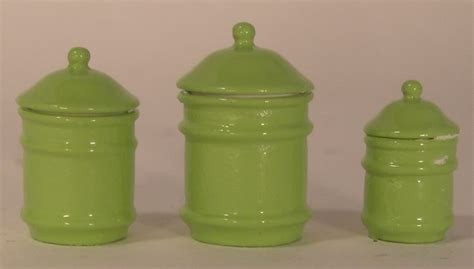 lime green kitchen canisters canister set lime green by tya miniatures pinterest