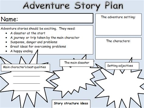 new year 2015 story ks1 ks1 2 adventure story planning template by newromantic