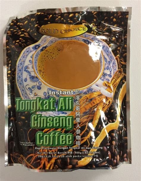 Tongkat Ali Ginseng Coffee gold choice instant tongkat ali ginseng coffee