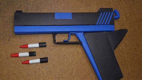 How Make A Paper Gun - diy how to make a paper defense gun that shoot paper