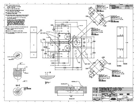 fab drawing machined part  cad engineering graphics pinterest