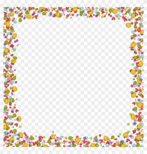 clipart for word confetti clipart border for background for