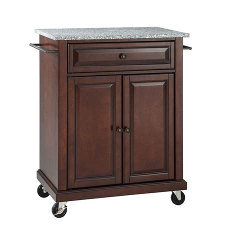granite top kitchen island cart crosley 28 1 4 in w solid granite top mobile kitchen